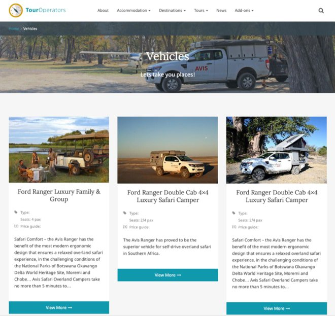 LSX Tour Operator Vehicles - Archive Template
