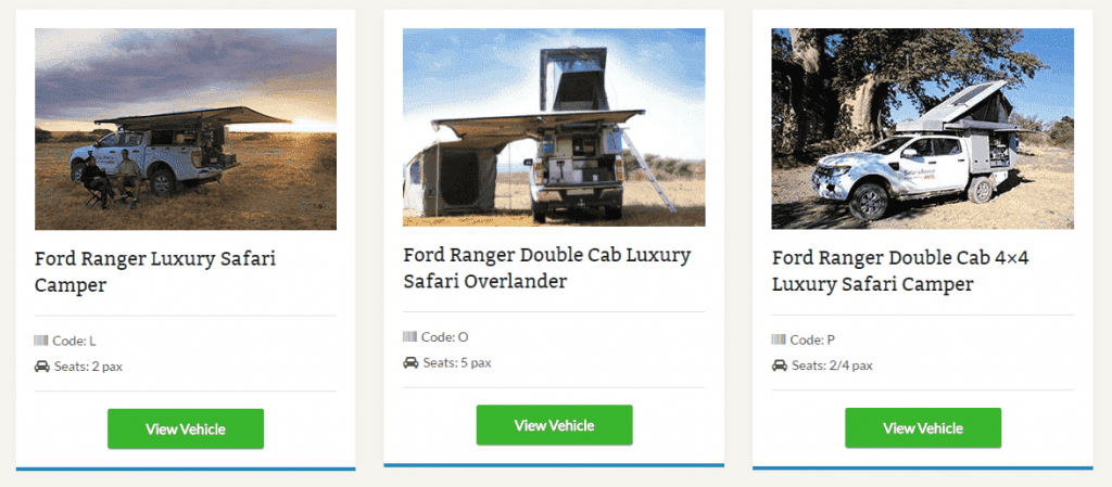 LSX Tour Operator Vehicles Widget