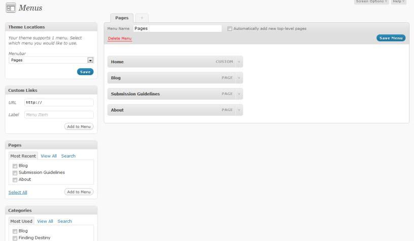 how to create custom drop down menu in wordpress