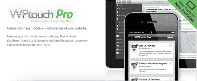 WordPress Mobile with WPtouch Pro