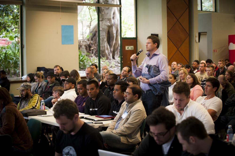 A Camper asks a question at WCCT 2012