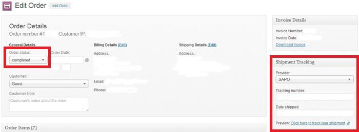 Shipment Tracking extension