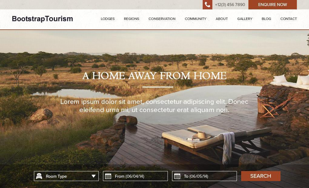 accommodation website template