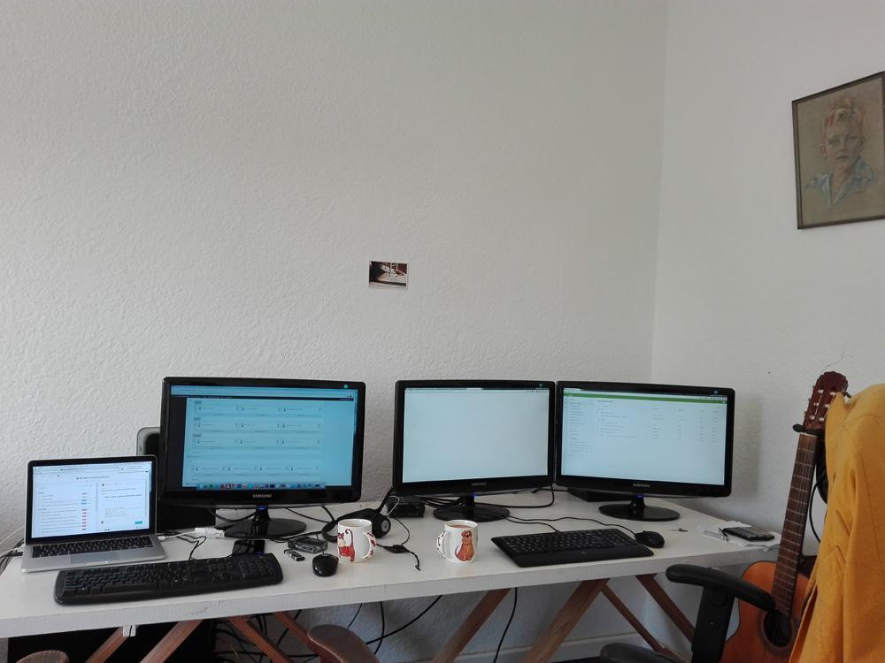 Rafi (L) & Anton (R) Remote Workspaces