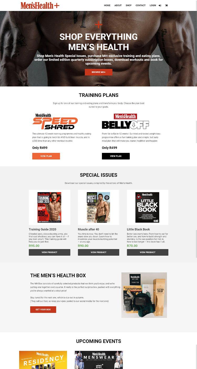 Men's Health Plus Desktop Homepage