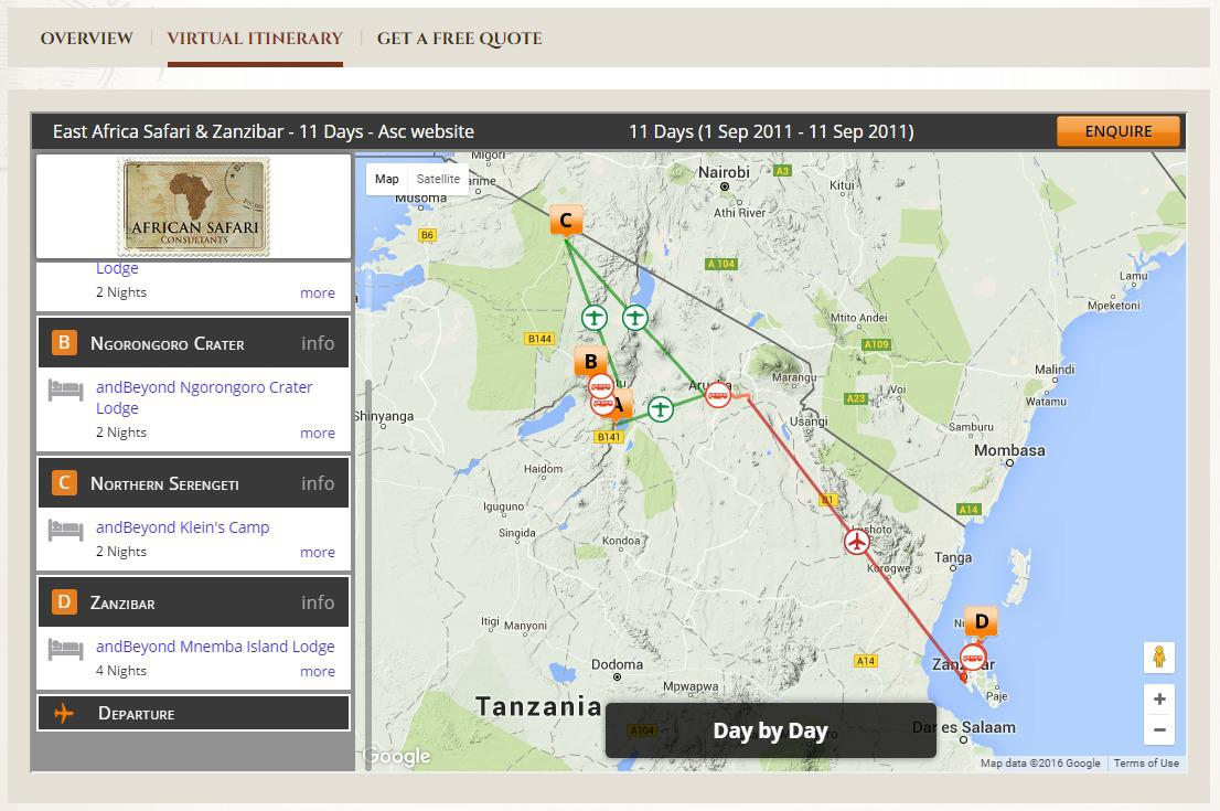 tour operator websites